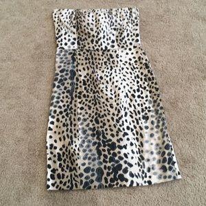 Zara strapless savannah chic mini dress no slip